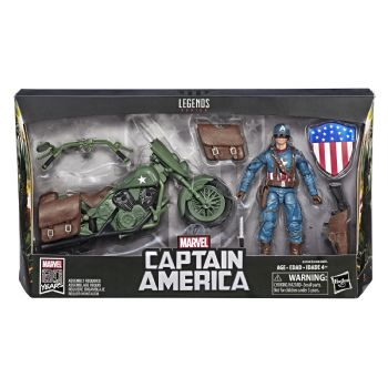 Marvel Legends Captain America and Motorcycle Action Figure Set